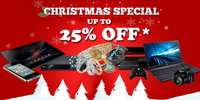Cash Stop Christmas Special up to 25% off!